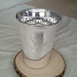 Crate & Barrel Silver Wine Cooler
